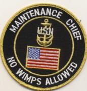 Navy Maintenance Chief Patch