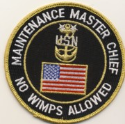 Navy Maintenance Master Chief Patch