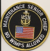Navy Maintenance Senior Chief Patch