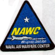 Naval Air Warfare Center (NAWC) Patch (Black Border)