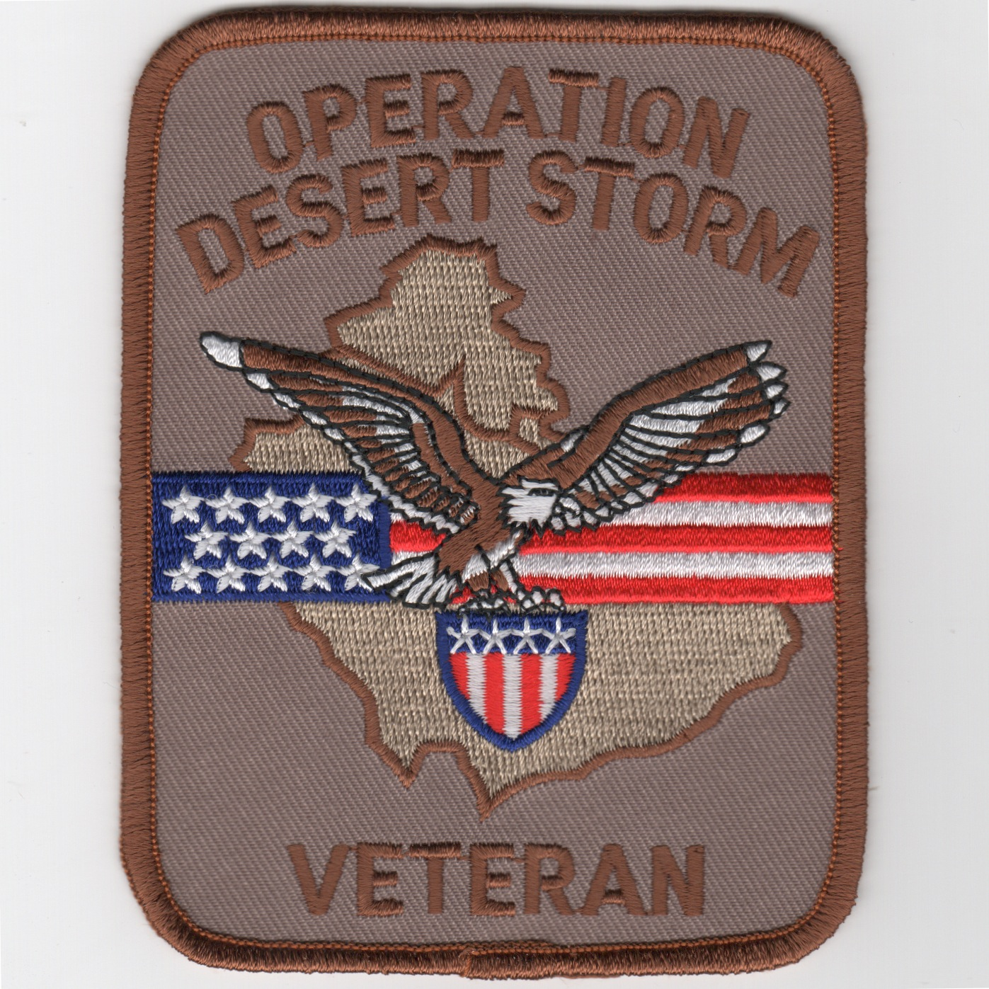 Operation DESERT STORM VETERAN Patch (Rect/Des)