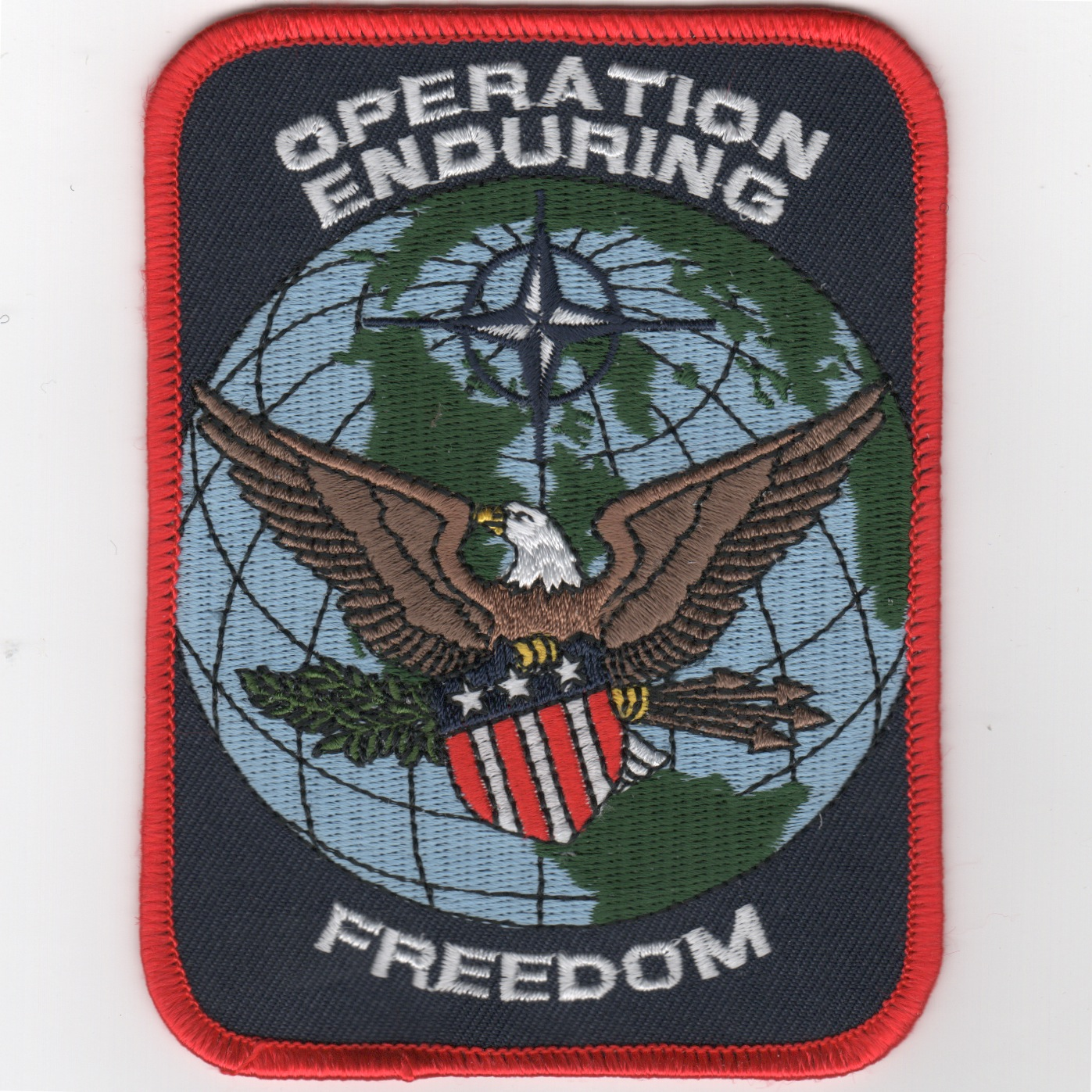 Operation ENDURING FREEDOM (Rect/Black)