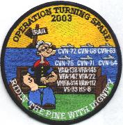CVN-70 'Operation Turning Spare' Cruise Patch