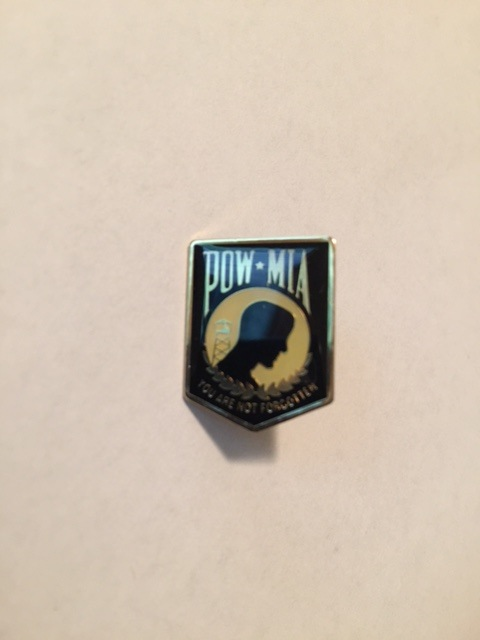 Lapel Pin - POW (Black)