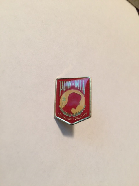 Lapel Pin - POW (Red)