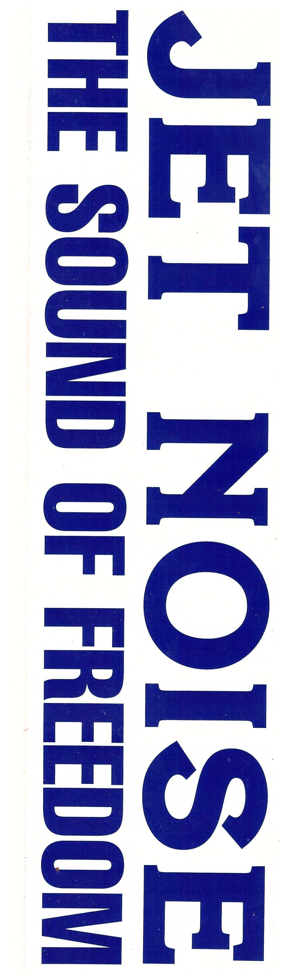 Jet Noise Bumper Sticker