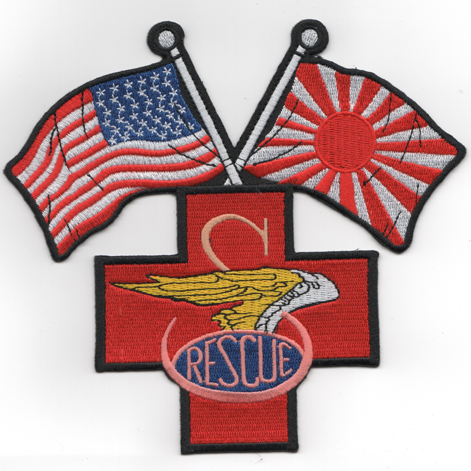 SH-60F Backpatch 'RED CROSS' (AM-JAP Flags/No Eagle)