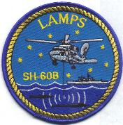 SH-60 LAMPS Patch (Round)