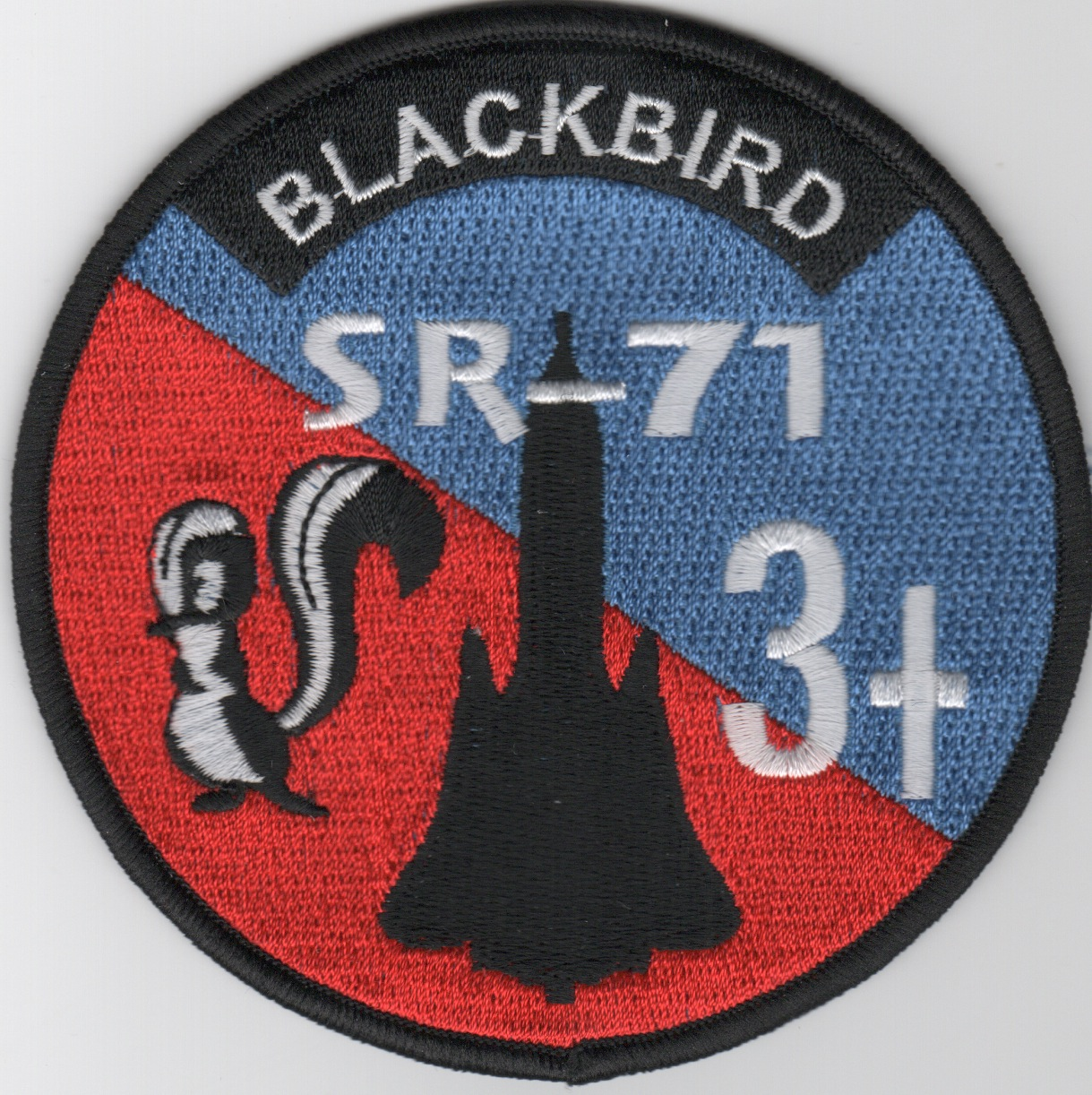 SR-71 '3+' Patch (Round)