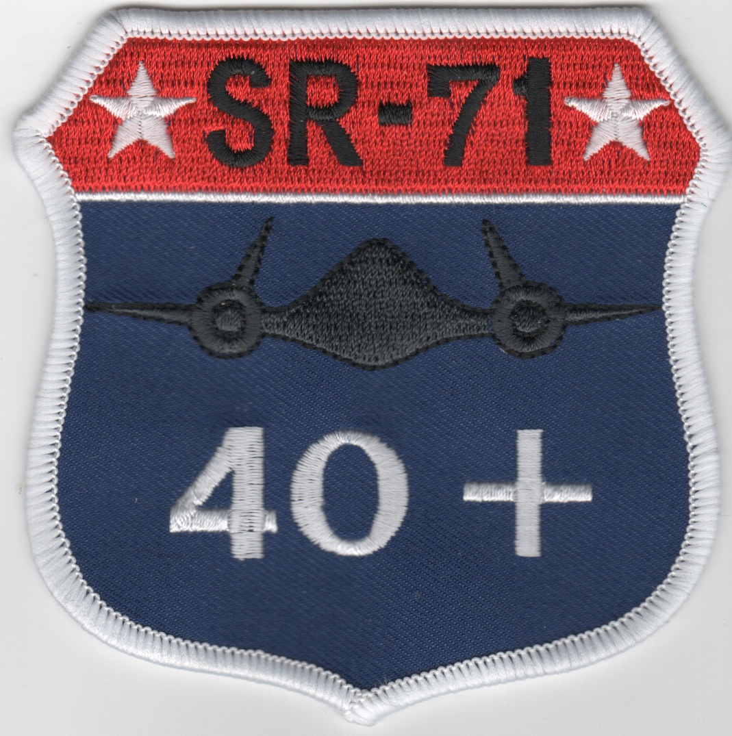 SR-71 '40+' Crest Patch