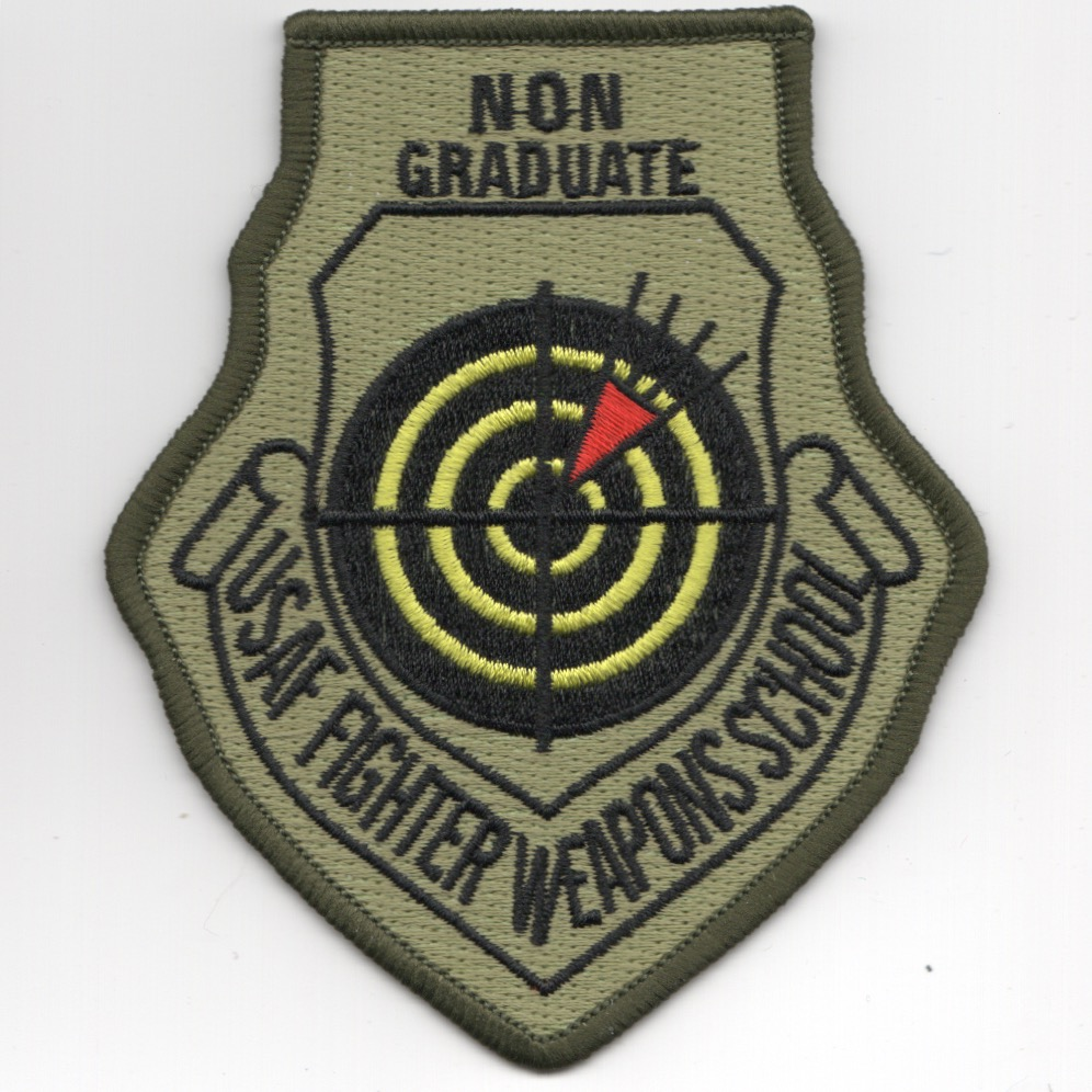 USAF FIGHTER Weapons School NON-Grad Patch (OCP/NO V)