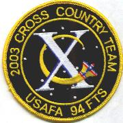 94th FTS/USAFA X-Ctry Team Patch