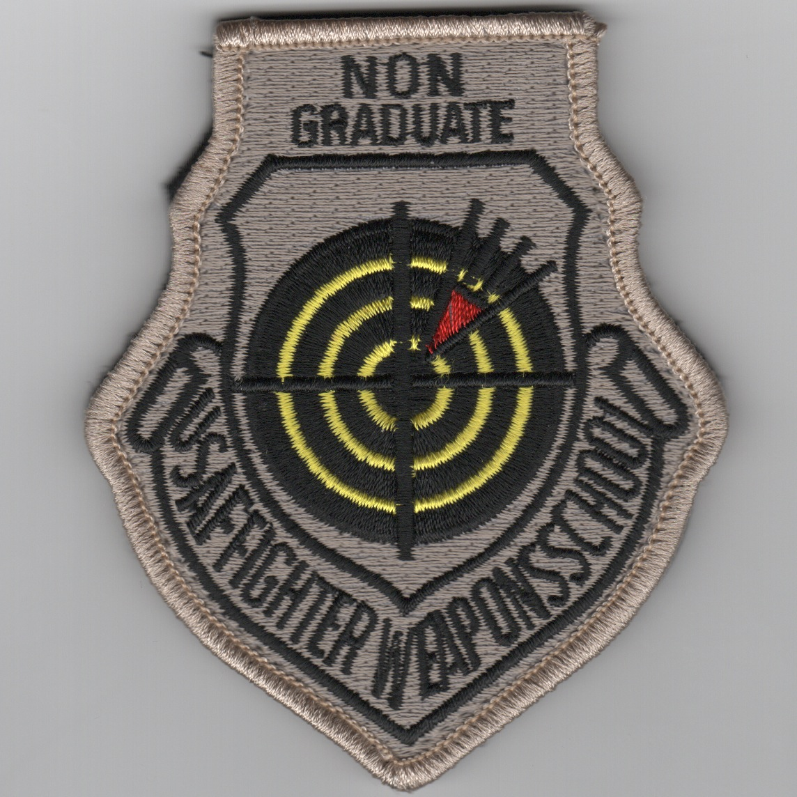 USAF FIGHTER Weapons School NON-Graduate Patch (No Velcro)