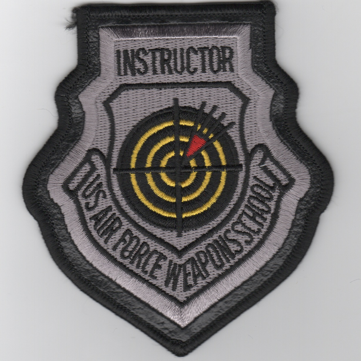 USAF Weapons School INSTRUCTOR-Leather Border