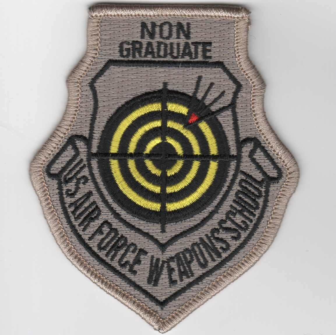 USAF Weapons School NON-Graduate Patch (No Velcro)