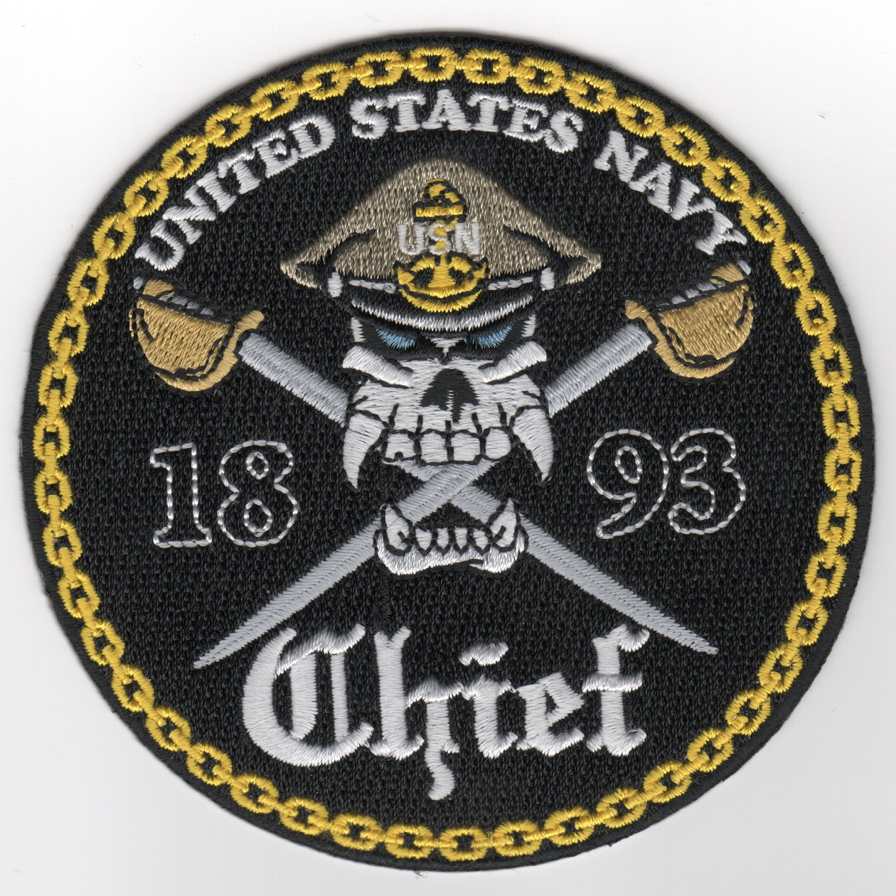 USN Chiefs '1893' Patch