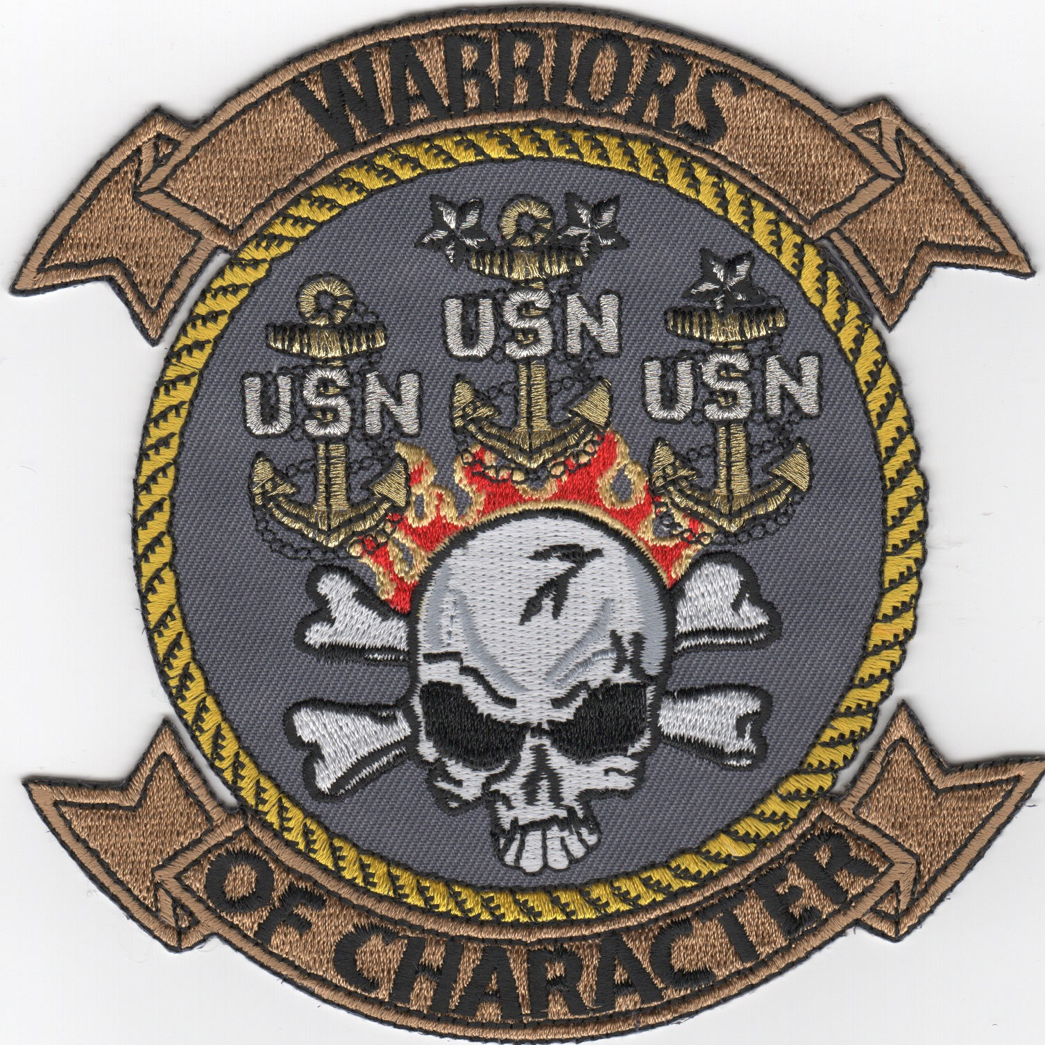 USN Chiefs 'Warriors' Patch