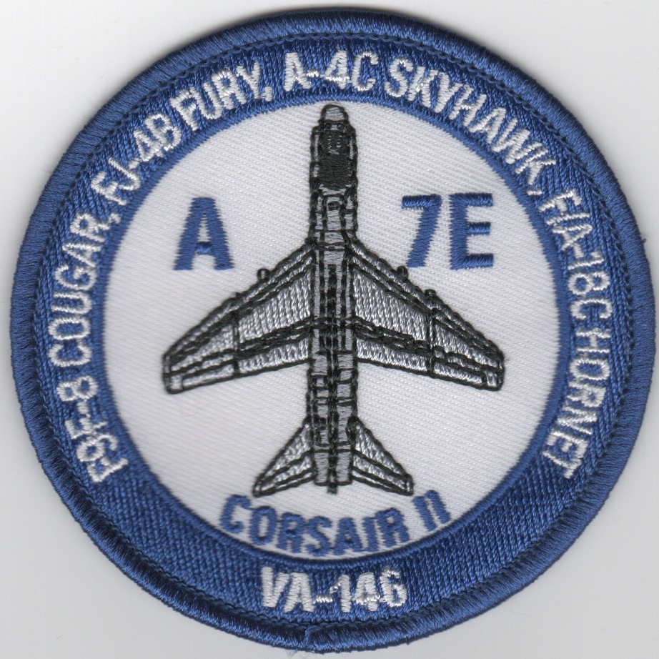 VA-146 A/C Bullet Patch (Blue/A-7E)