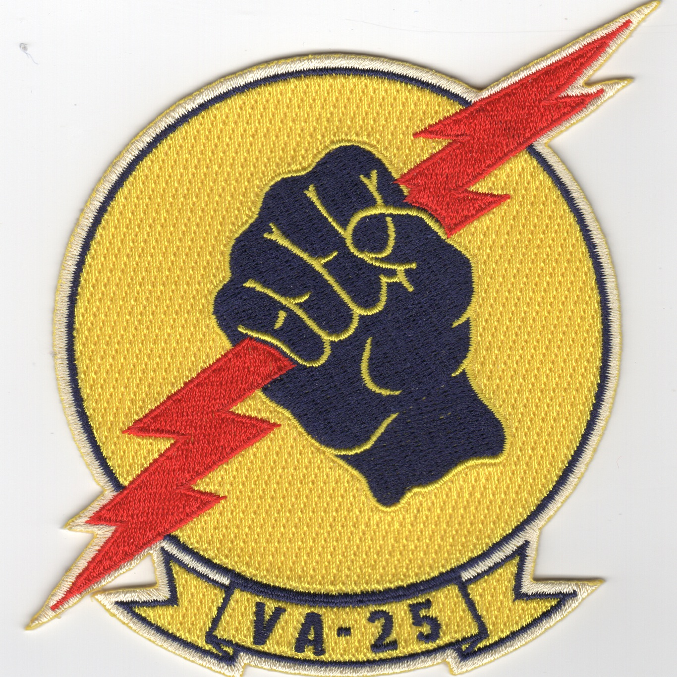 VA-25 Squadron Patch (No Stars/Old Style)