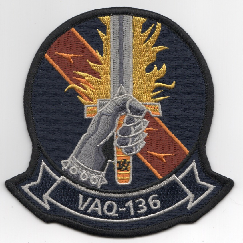 VAQ-136 Squadron Patch (Hand w/Sword)