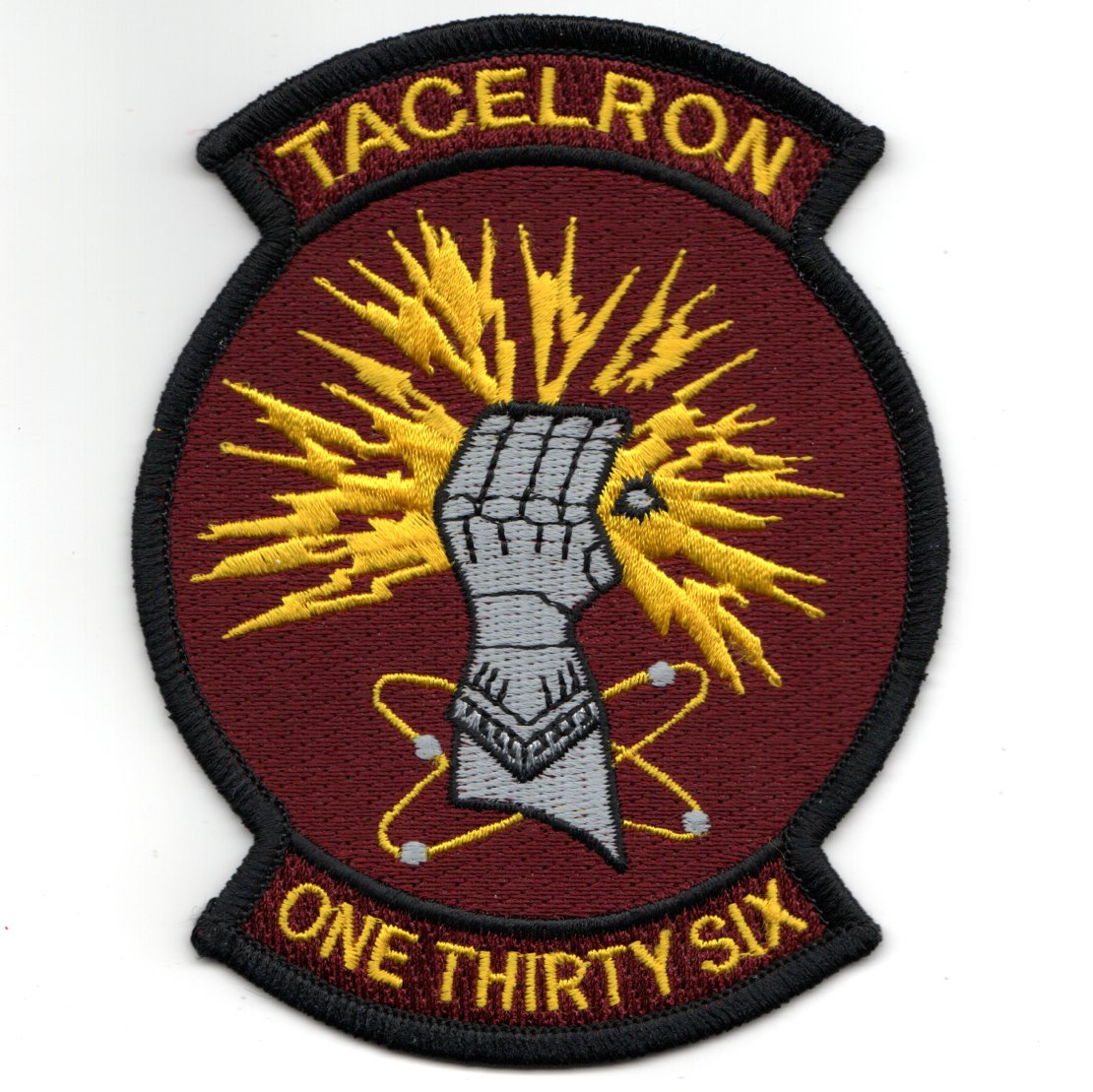 VAQ-136 'TACELRON' Squadron Patch (Maroon)