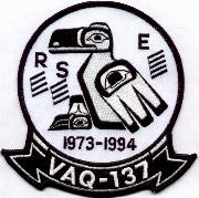 VAQ-137 1973-1994 Decommission Patch