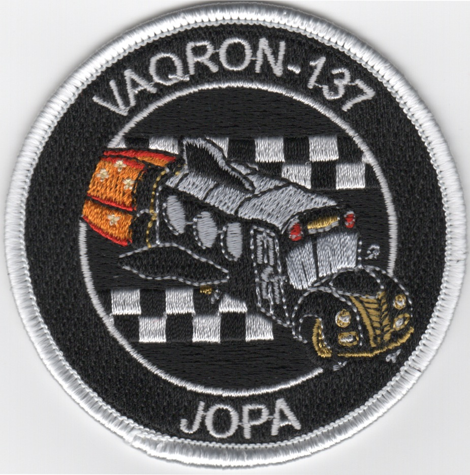 VAQ-137 'JOPA' Patch (Black/White Border)