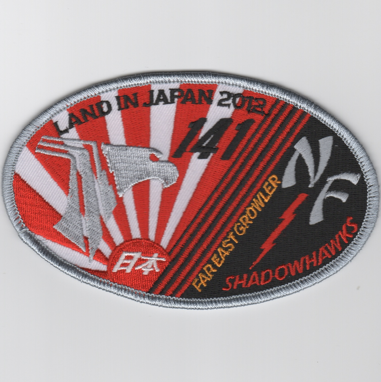 VAQ-141 2012 'Land in Japan' Patch (Oval)