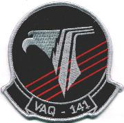 VAQ-141 Squadron Patch (Med/Wide Scroll)
