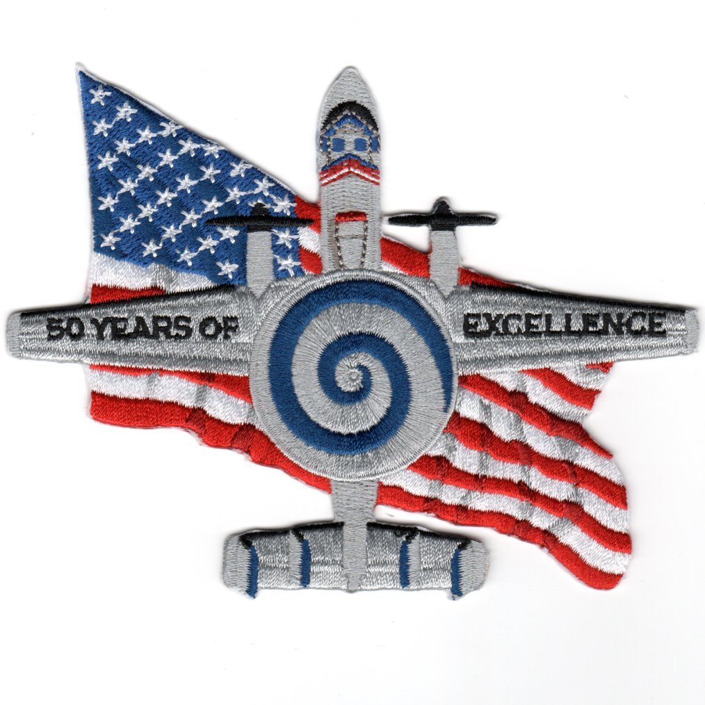 VAW-123 '50th Anniversary' E-2C Planform Patch
