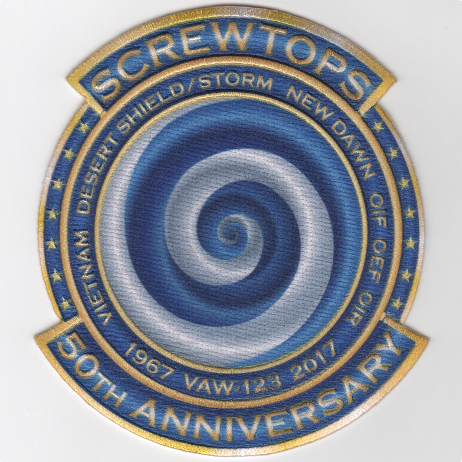 VAW-123 '50th Anniversary Swirl' Patch