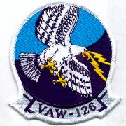VAW-126 Squadron Patch (White Border)