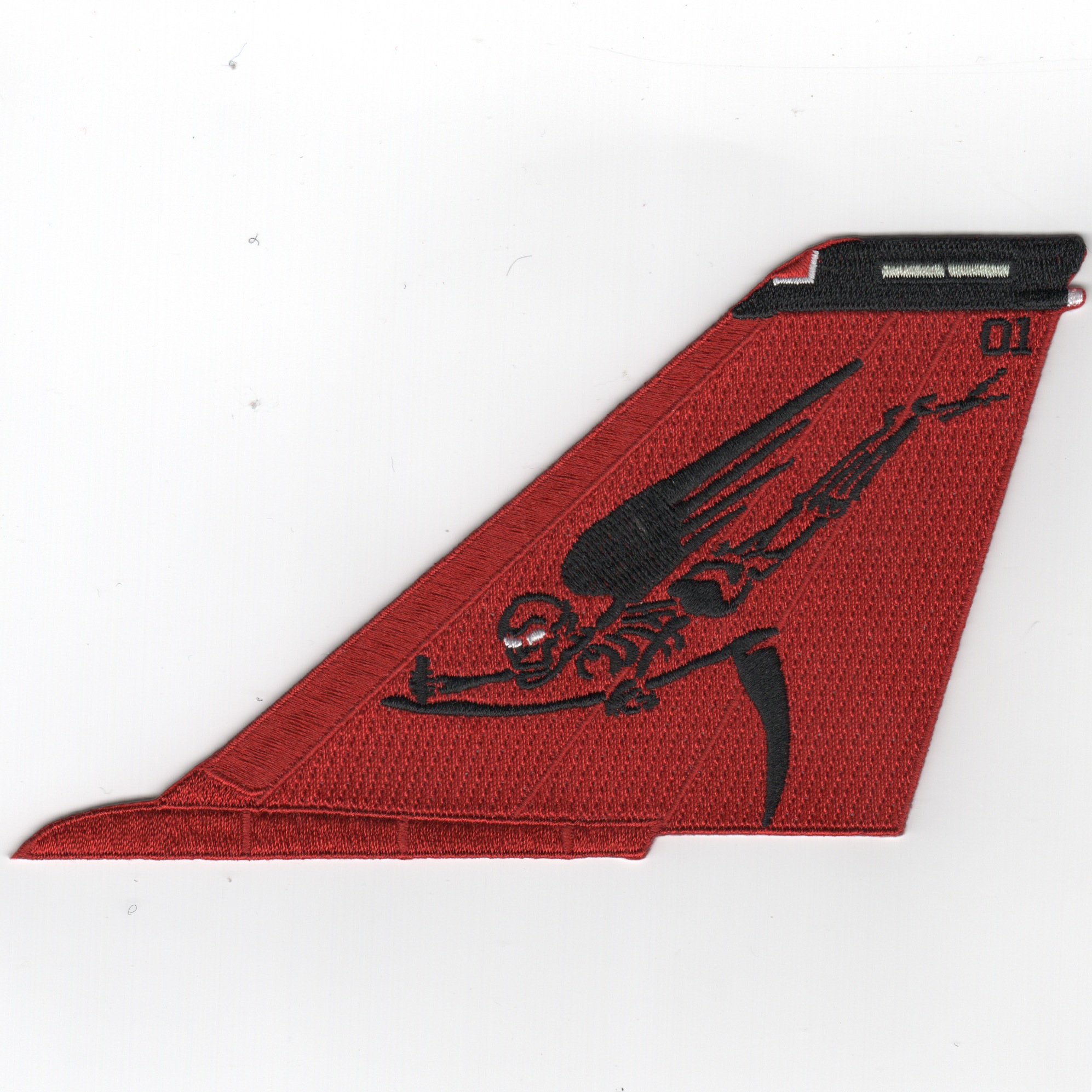 VF-101 F-14 Tail (All Red/Flying Moe/No Text)