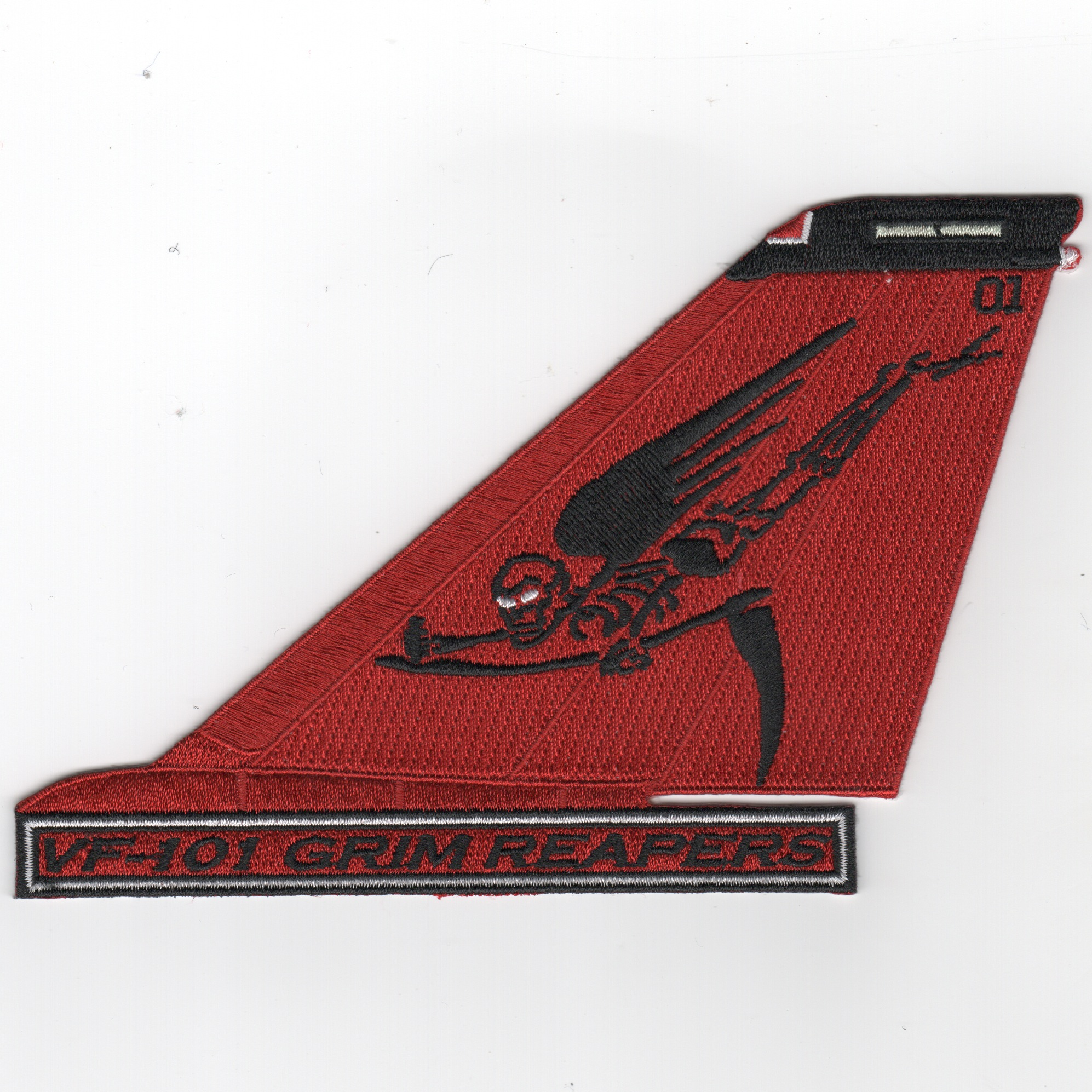 VF-101 F-14 Tail (All Red/Flying Moe/Text)