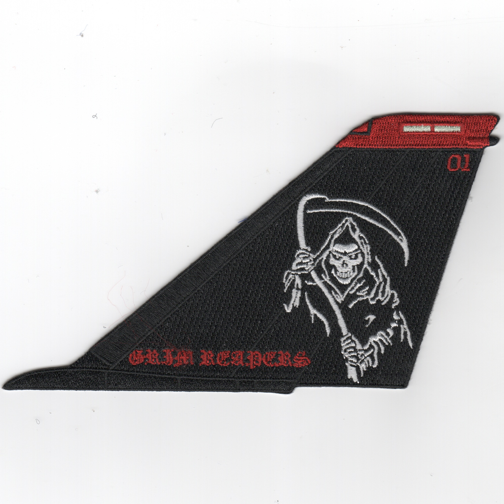 VF-101 F-14 Tail (Black/White-Moe/No Text)