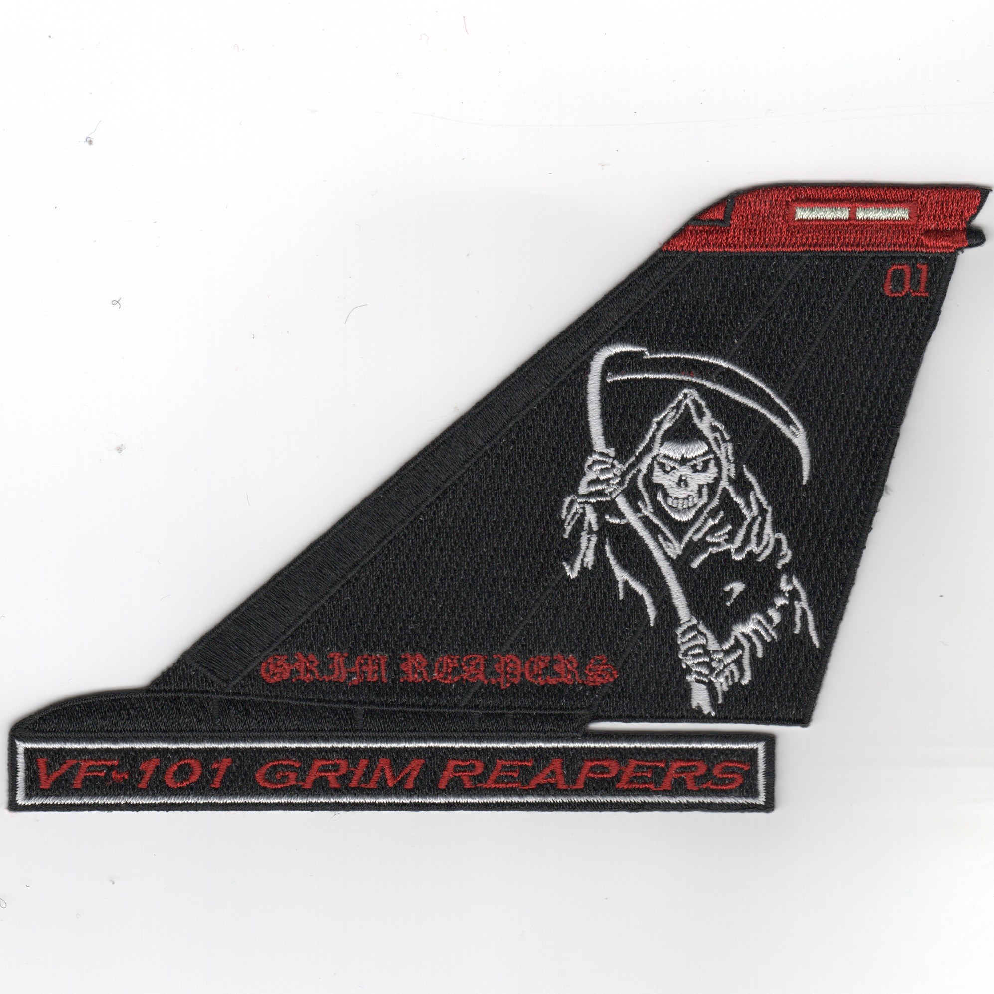 VF-101 F-14 Tail (Black/White-Moe/Text)