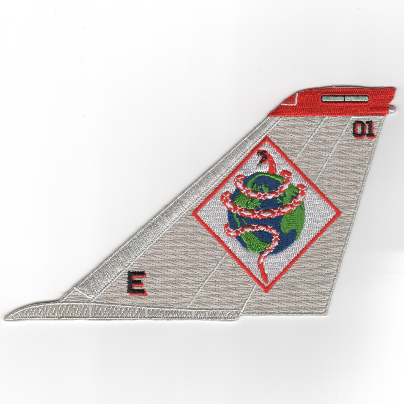 VF-102 F-14 Tailfin (Gray/Diam/No Text)