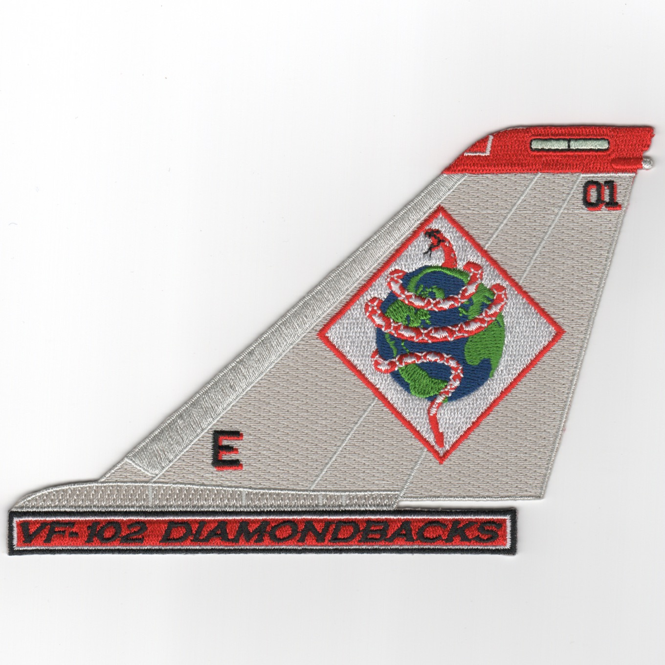 VF-102 F-14 Tailfin (Gray/Diam/Text)