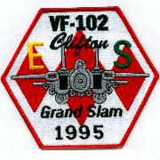 VF-102 1995 Grand Slam/Battle 'E' Patch (Hexagonal)