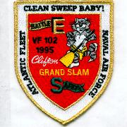 VF-102 1995 Grand Slam/Battle 'E' Patch (Shield)