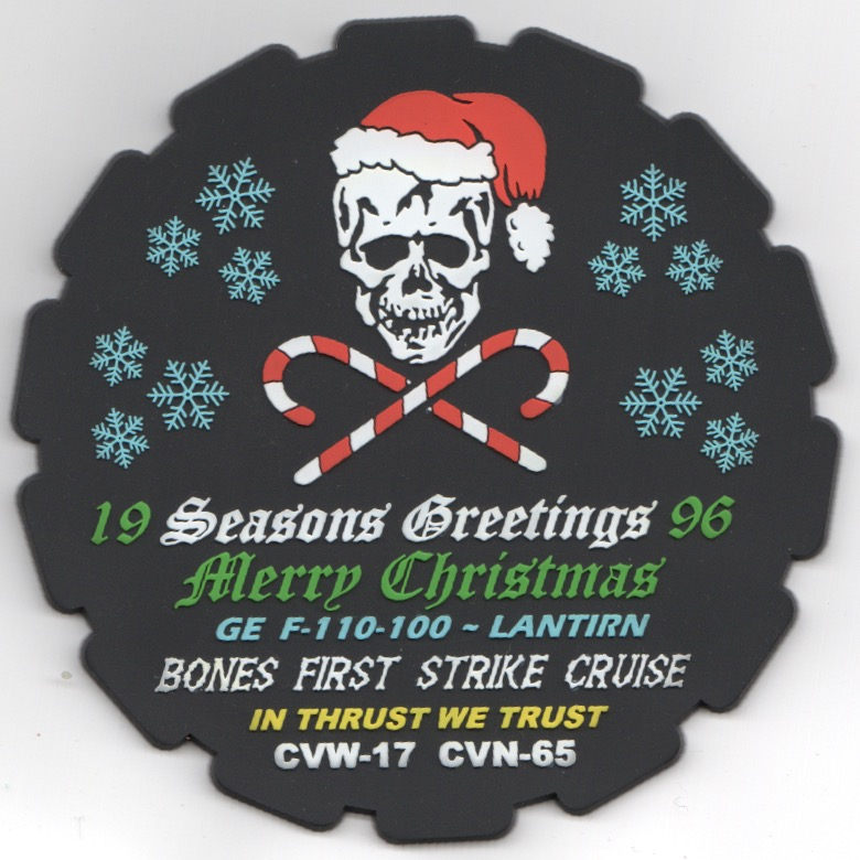 VF-103 1996 Christmas Cruise Patch (PVC/Round)