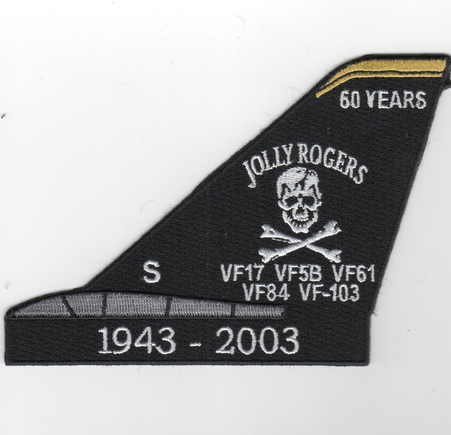 VF-103 F-14 '60-YEARS' Tomcat Tail Fin (Black)
