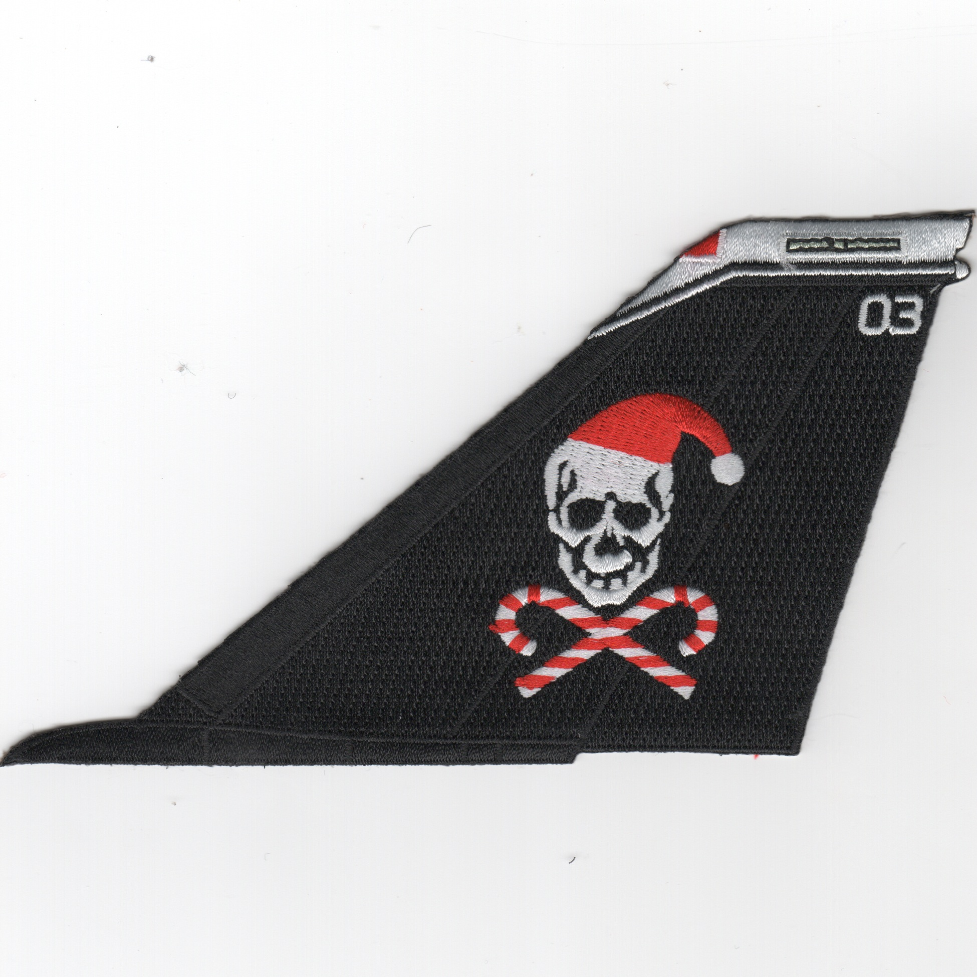 VF-103 F-14 Tailfin (No Text/Blk/Christmas)
