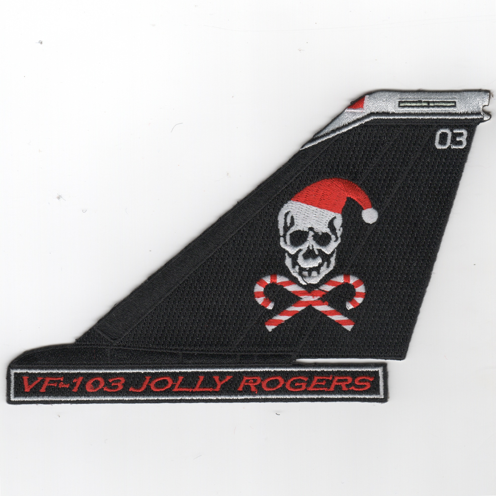 VF-103 F-14 Tailfin (Text/Blk/Christmas)
