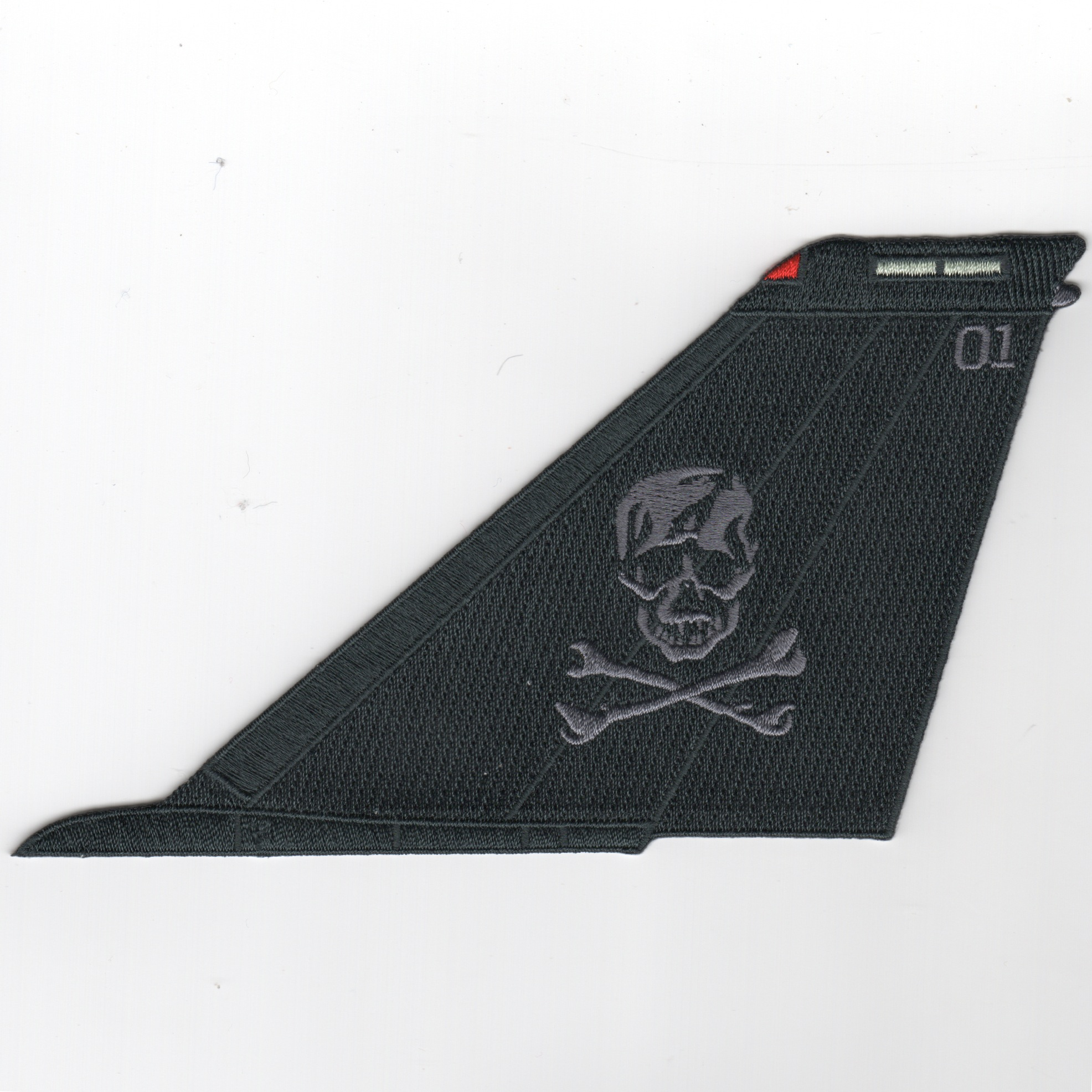 VF-103 F-14 Tailfin (Black/Gray Skull/No Text)