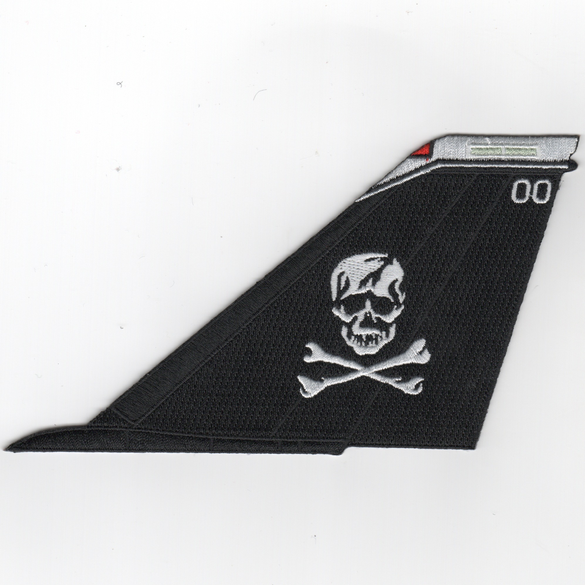 VF-103 F-14 Tailfin (Black/White Skull/White Tip/No Text)