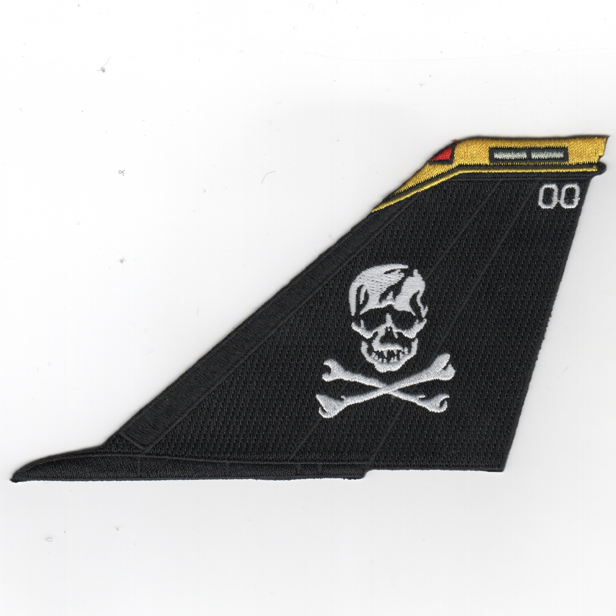 VF-103 F-14 Tailfin (Black/White Skull/Yellow Tip/No Text)