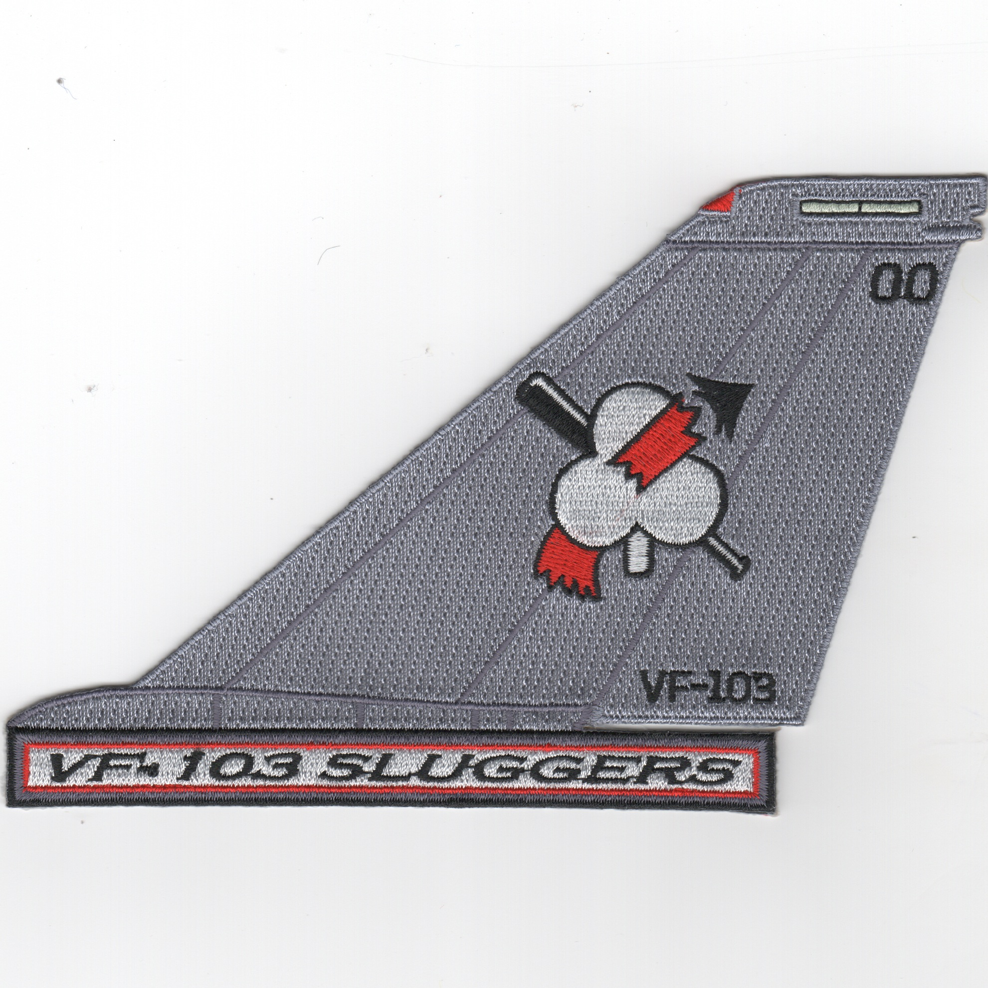 VF-103 F-14 Tailfin (Text/Light Gray)