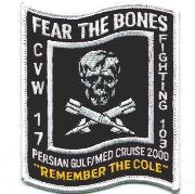 VF-103 'Fear the Bones'/USS COLE Patch