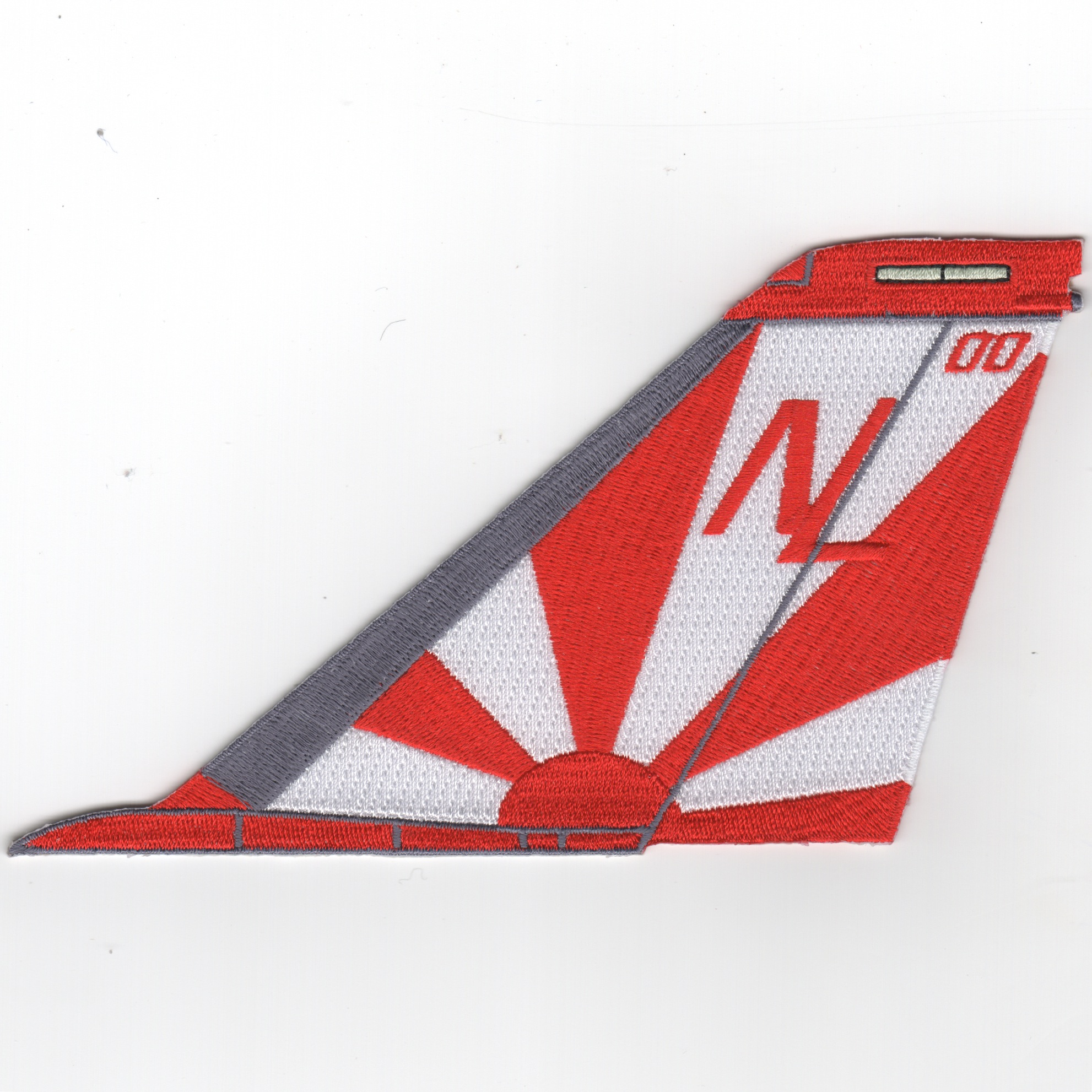 VF-111 F-14 Tailfin (No Text/Red-White)